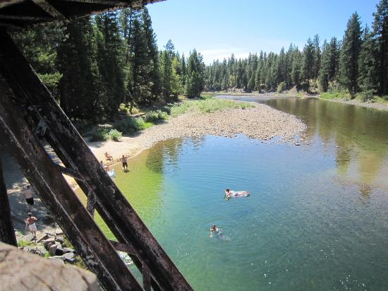 Rock Creek, Canada: Swimming at Kettle River Recreation Area