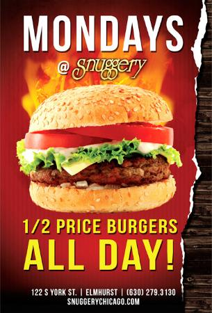 Elmhurst, IL: 1/2 Price Burgers