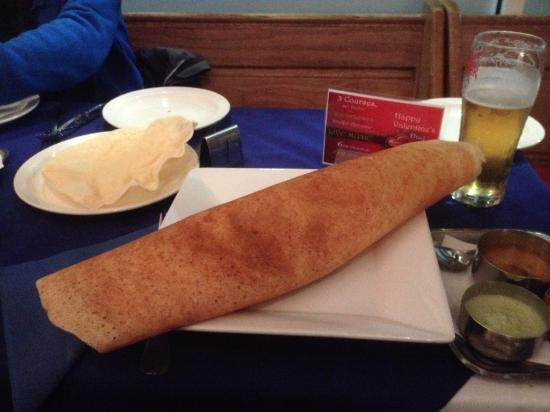 Rama's Bridge: I ordered a 'gunpowder dosa' as a starter, but was treated to this wonderful dish on the house!