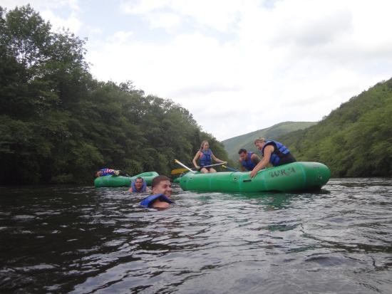 Nesquehoning, Pensilvania: Swimming and Rafting on the Lehigh