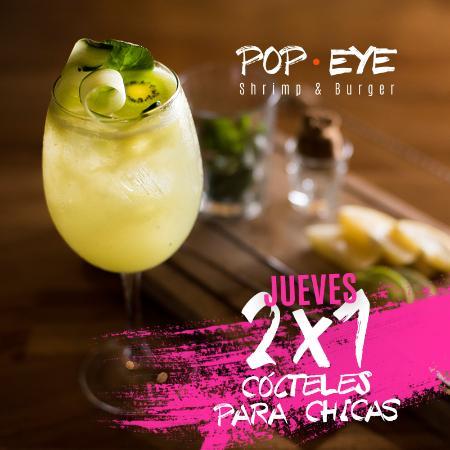 Queretaro, Mexico: Los jueves 2 x 1 y promociones para ellas.