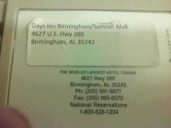 Days Inn Birmingham/Summit Mall: 20160210_193307_large.jpg