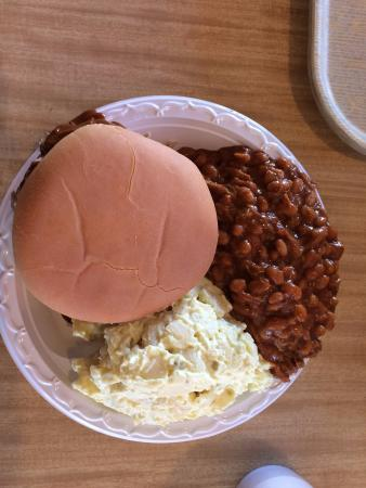 Anderson, SC: Jumbo Chopped Sandwich with Baked Beans and Potato Salad