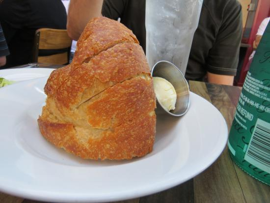 Large chunk of warm bread before lunch picture of rock 39 n for Rock n fish manhattan beach