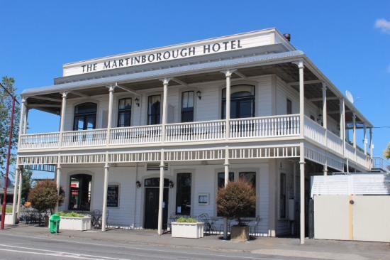Martinborough, Nowa Zelandia: Hotel front