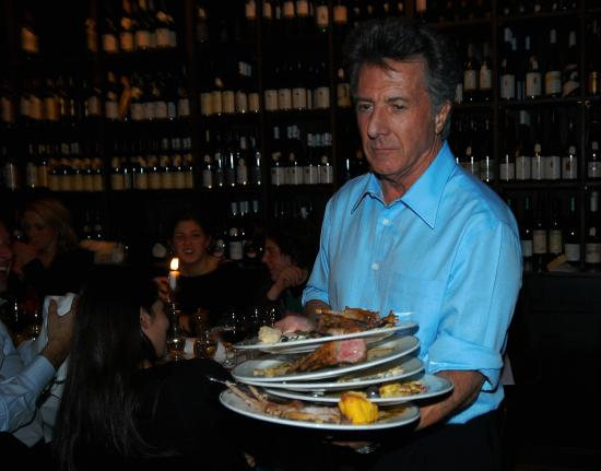 Lutter und Wegner: Dustin Hoffman im Lutter & Wegner am Gendarmenmarkt