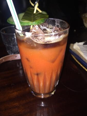 Panda & Sons: Red Panda Bloody Mary with Guinness Float, spice level 5