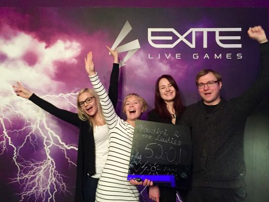 Super excited and having great fun after solving the 4 Elements escape room at Exite Live Games.