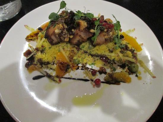 Soprano: Pork Belly with Grape Couscous