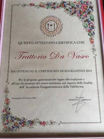 Sansepolcro, Ιταλία: Fra i migliori sei ristoranti del nostro territorio