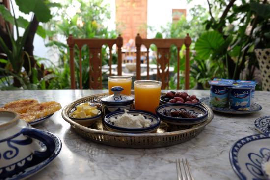 Riad Lune et Soleil: Frühstück