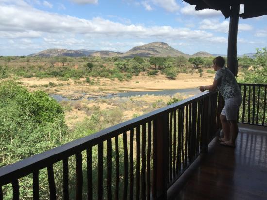 Malelane, Sør-Afrika: View from the terrace - Crocodile River and Krüger park