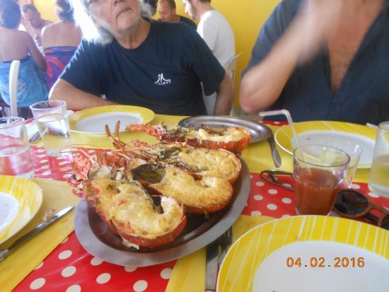 Iles des Saintes, กวาเดอลูป: langoustes !!