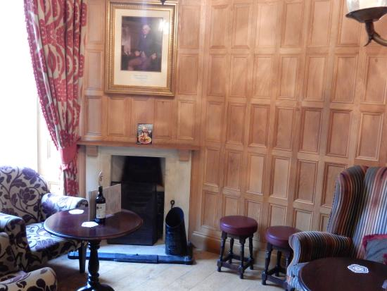 Panelled room leading to the garden