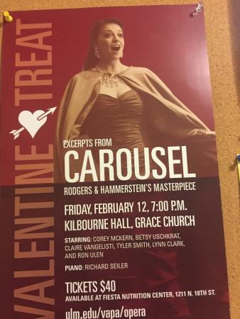 Monroe, LA: Wonderful production of Carousel in concert!