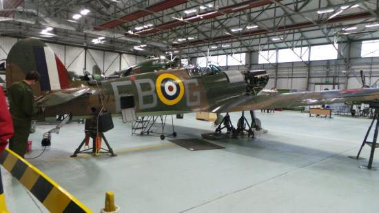 Coningsby, UK: one of the planes on show