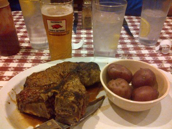 Fayetteville, AR: 1.5 lb T-Bone with Red Potatoes and a local IPA