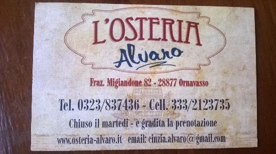 L'Osteria Alvaro