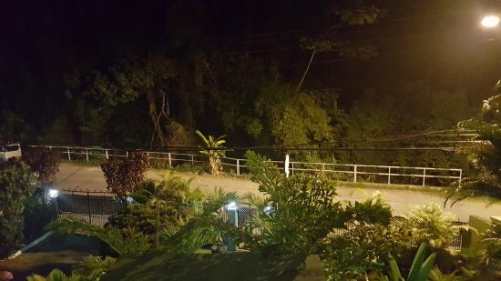 Samise Villa: Night view from front balcony