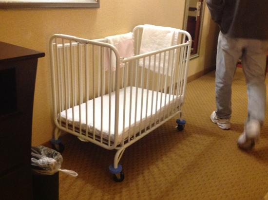 Holiday Inn Express Hotel & Suites Franklin : Provided a crib.....no bumpers available, though