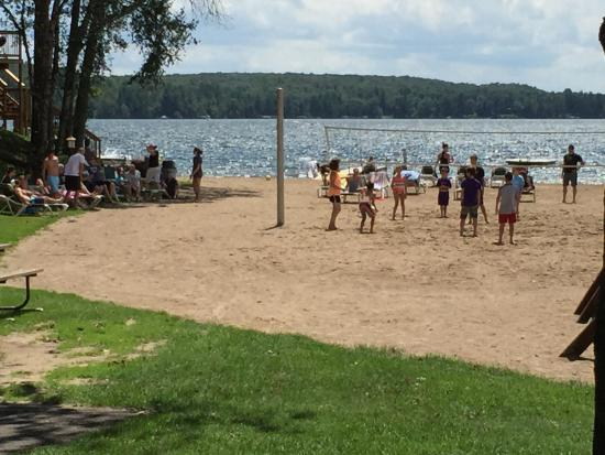 Brainerd, MN: A volleyball game going on!