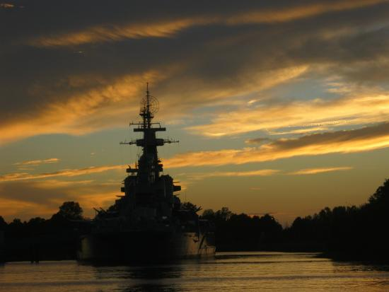 Reel Cafe: Battleship at sunset