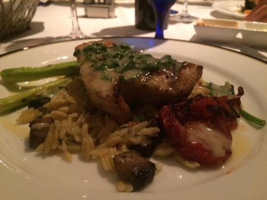 Jensen Beach, FL: Swordfish with delicious orzo