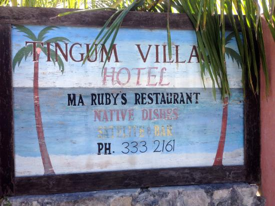 Ma Ruby's Restaurant: Hotel Sign