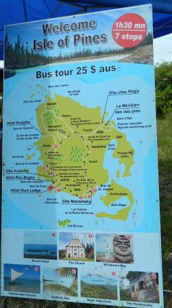 Isle Of Pines Map Map of Isle of Pines   Picture of Port de Kuto, Kuto   TripAdvisor Isle Of Pines Map