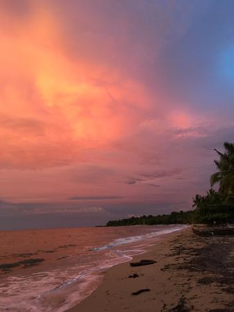 The sunset was beautiful.