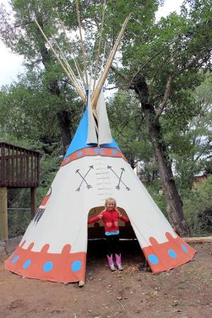 Dubois, WY: Tipi for Kids to play in by Playground