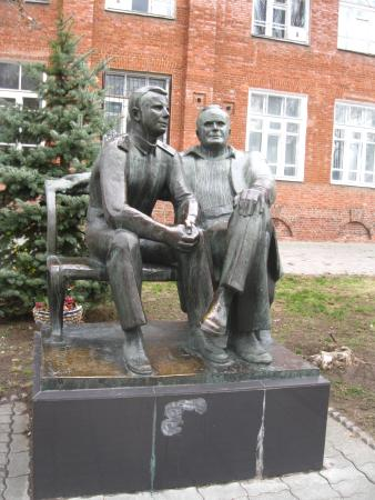 Monument to Korolyov and Gagarin