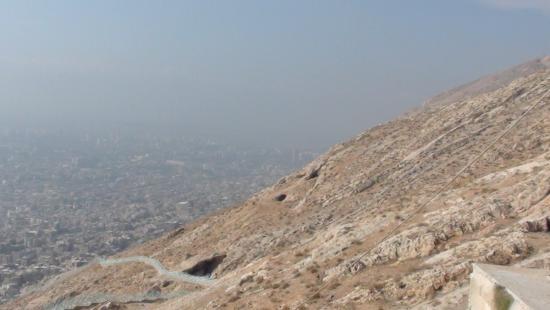 Mount Qassioun (Jebal Kasioun): Склон