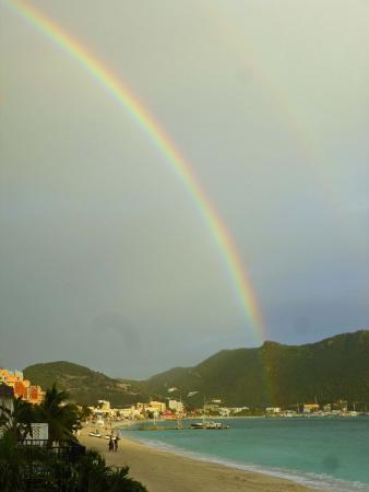Villas on Great Bay: View of rainbow & Philipsburg in distance from villa 6