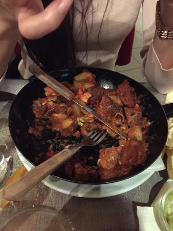 """Casuelas """"szűz sertés"""" - almost just with potatoes..."""
