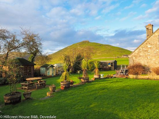 Dovedale, UK: View of Thorpe Cloud from the garden