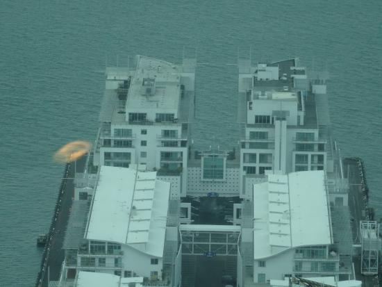 Hilton Auckland: Hotel from sky tower