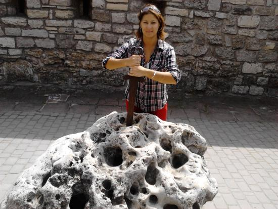 Kamianets-Podilskyi, Ucrania: espala en piedra