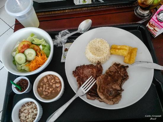 La Em Casa: Contra fillet super macio e deliciosa farofa
