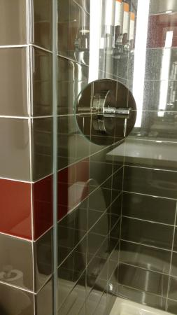 Hotel Eastlund Hole In Glass Wall Of The Shower Stall So You Dont