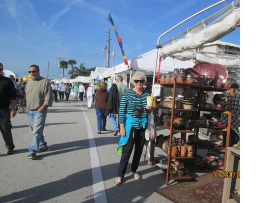 New Smyrna Beach, FL: IMAGES art show every January on Canal Street and Riverside Drive.This is a juried show.