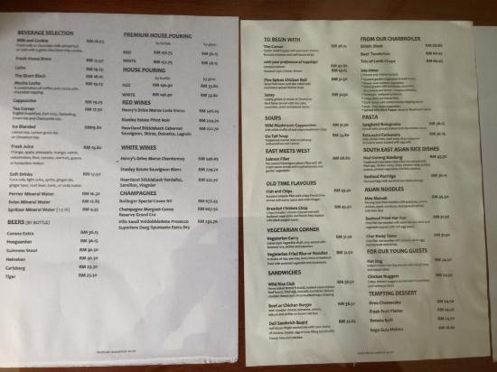 Room service menu picture of the boulevard a st giles for W hotel in room dining menu singapore