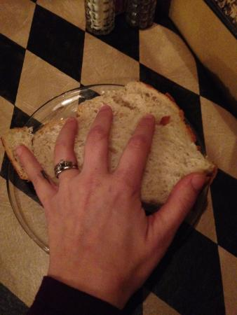 DuBois, PA: The bread was the size of my hand!