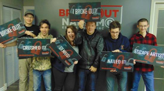 Nanaimo, Canada: The record holders! They got out with 14:46 minutes left -- can you escape faster?