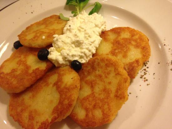 potato pancakes and cottage cheese picture of senoji trobele rh tripadvisor co za