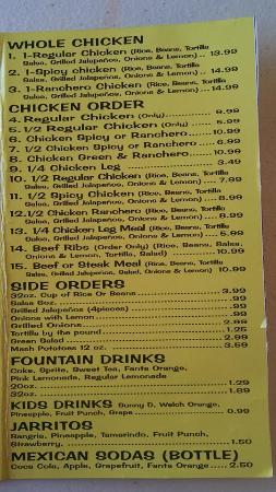 Auburndale, FL: check out the menu before going in - a good tasty selection (page 2)