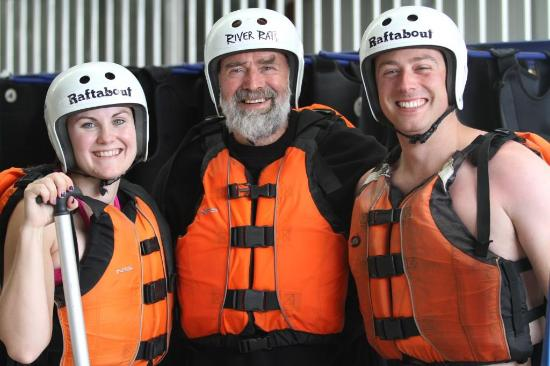 Mount Maunganui, Νέα Ζηλανδία: Guide - Alan ready to go rafting with his clients