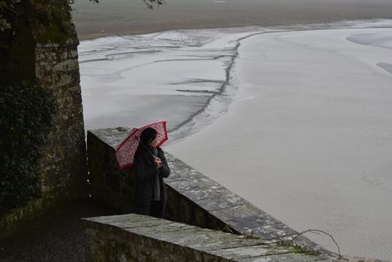 Αββαείο του Μον-Σαιν-Μισέλ: 1月底的聖山雨量不少,連續三天風雨遊聖山,就不顯浪漫了