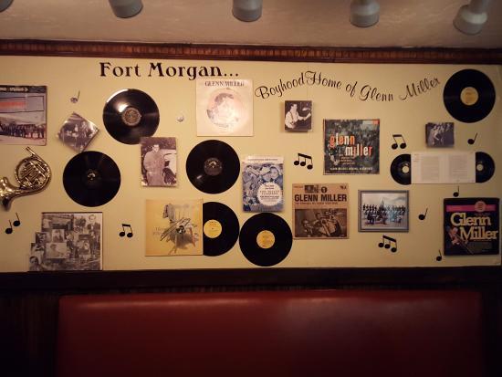 """Mavericks Restaurant & Bar: The Glen Miller wall at Maverick""""s"""