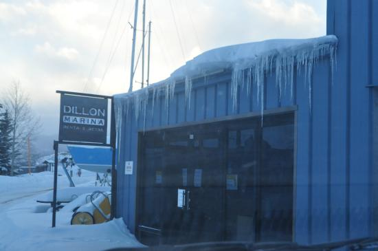 Dillon, CO: Marina in icicles